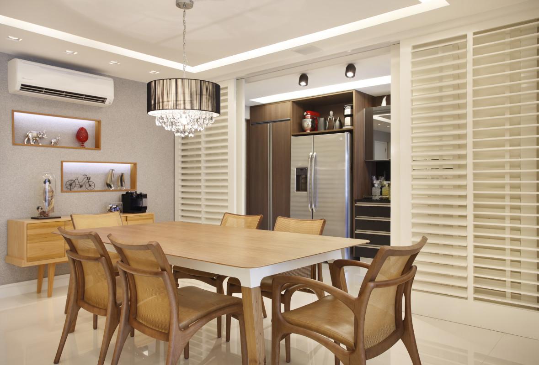 Arquitetura Residencial em Cozinhas com Mesa de Jantar