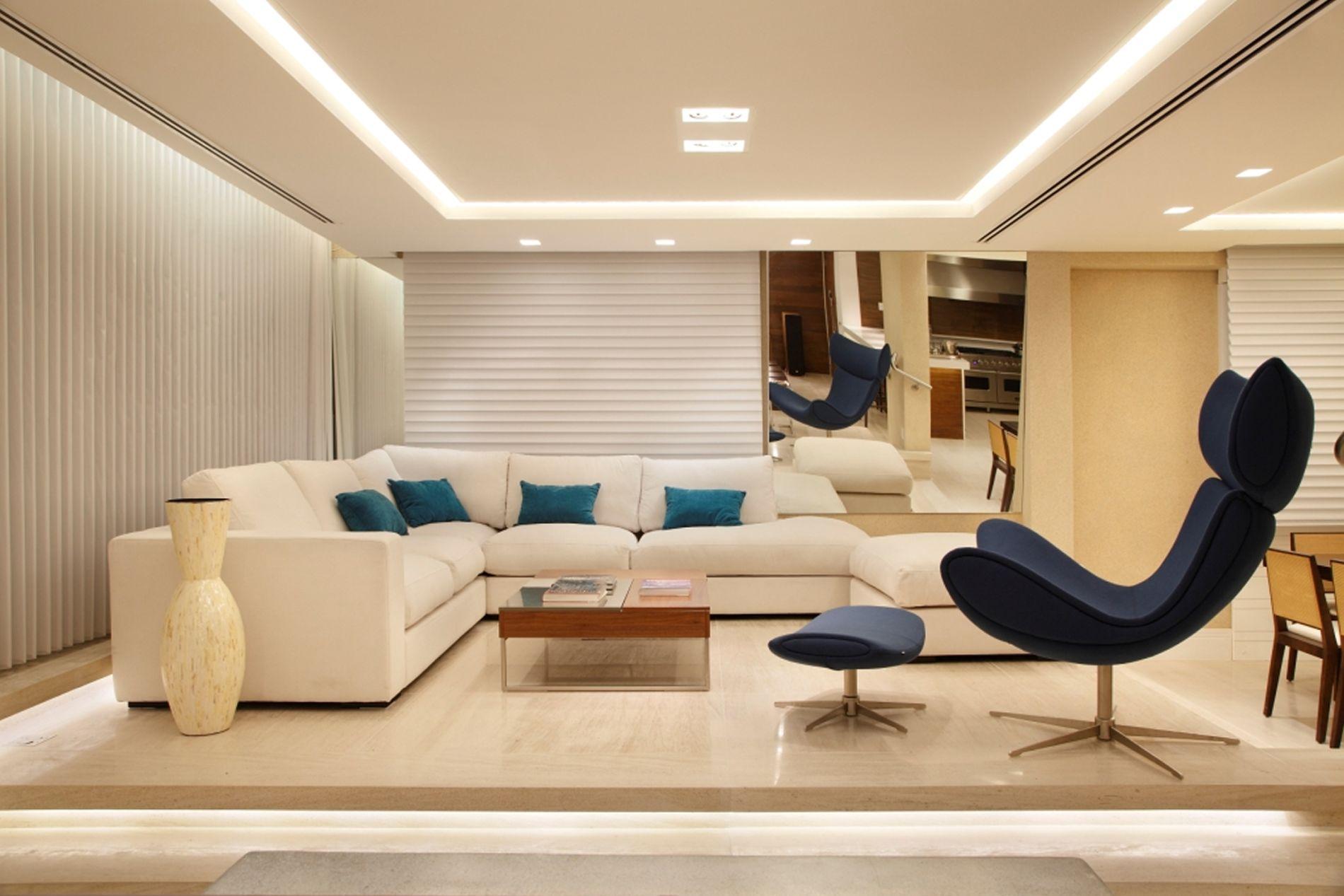 Projeto de Decoração de Interiores Apartamento no Leblon Rio de  #693E1F 1900 1267