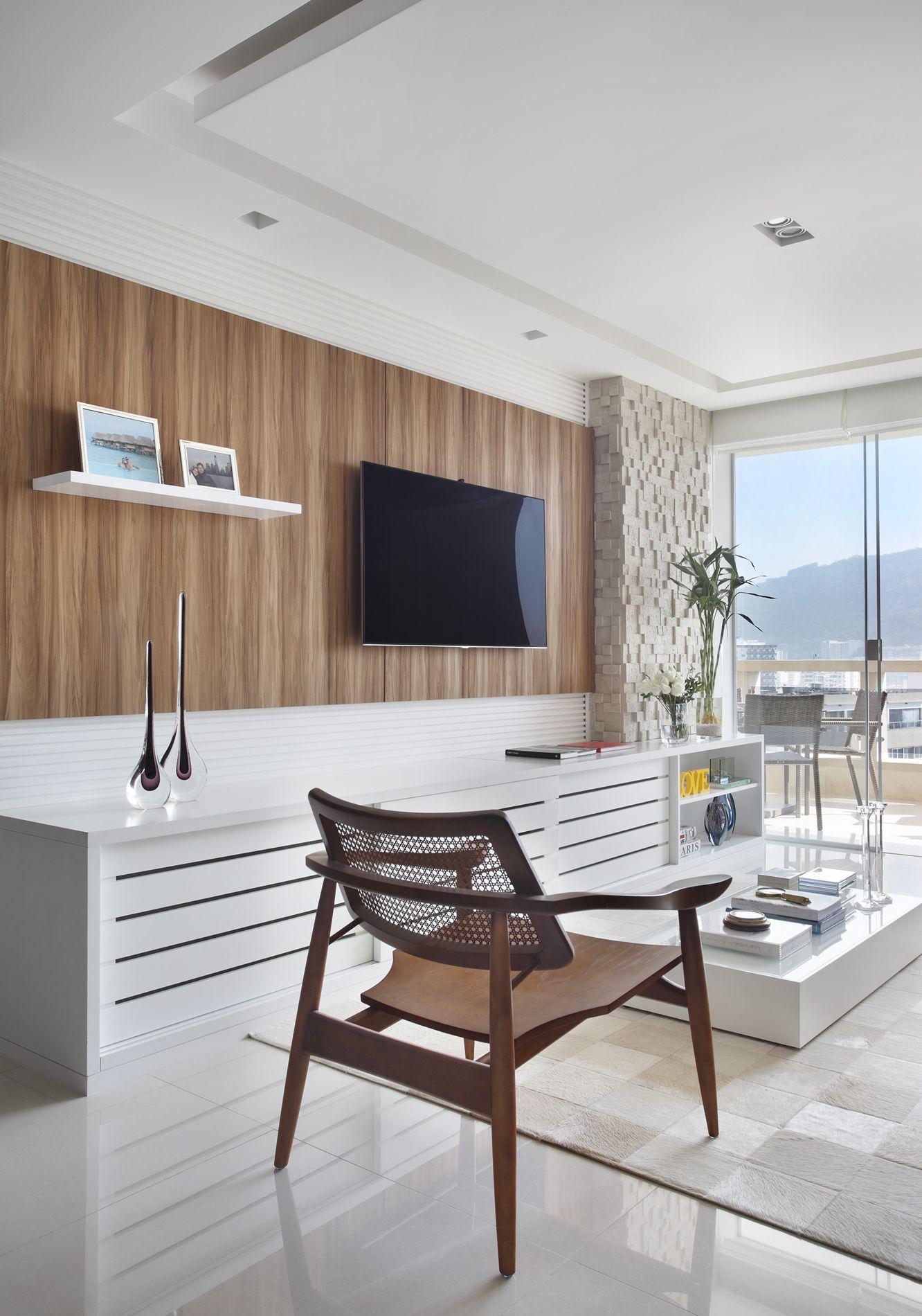 Decoração de Apartamento Projeto Residencial Apartamento Oswaldo  #7F624C 1332 1900