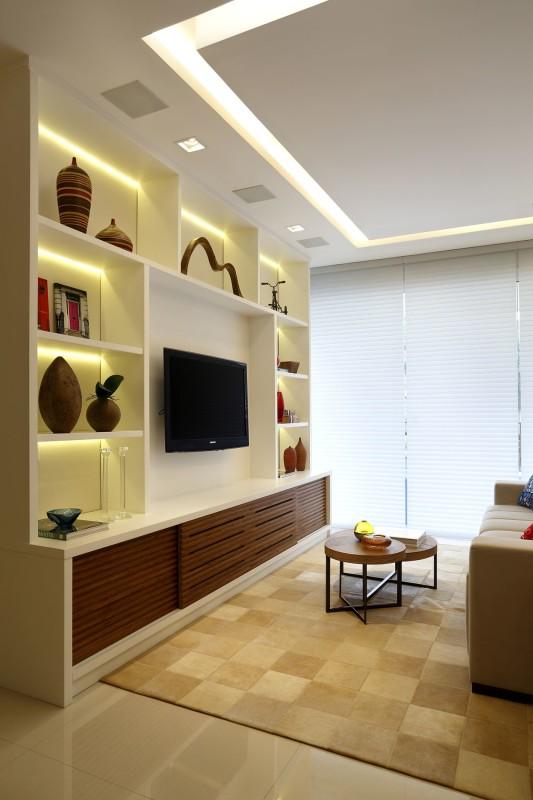 Arquitetura para Salas com Tons Dourado