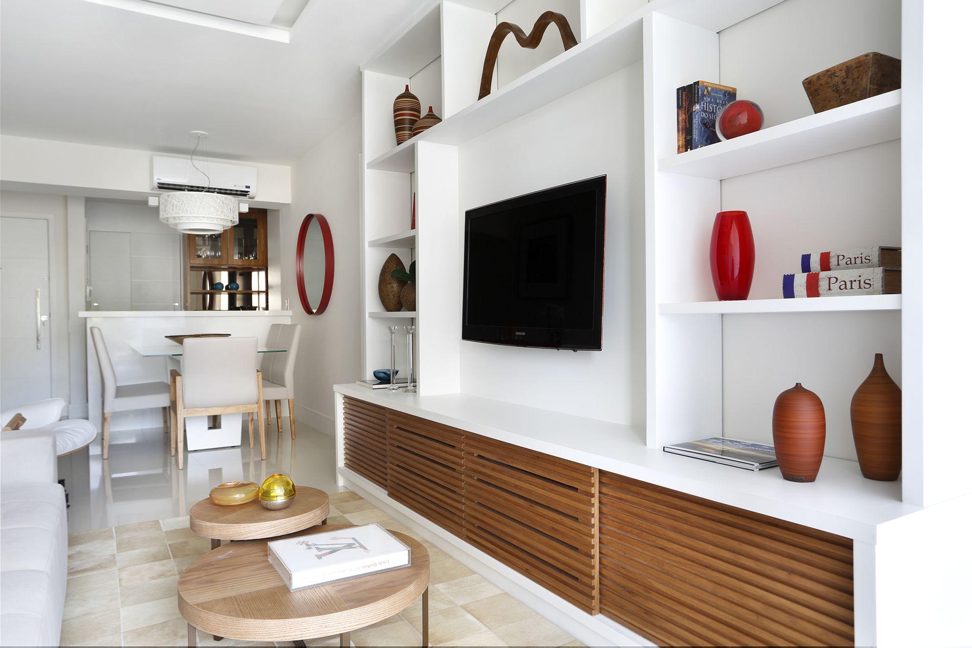 Projeto de Arquitetura e Decoração para Sala de Tv em Apartamentos  #714026 1900 1267