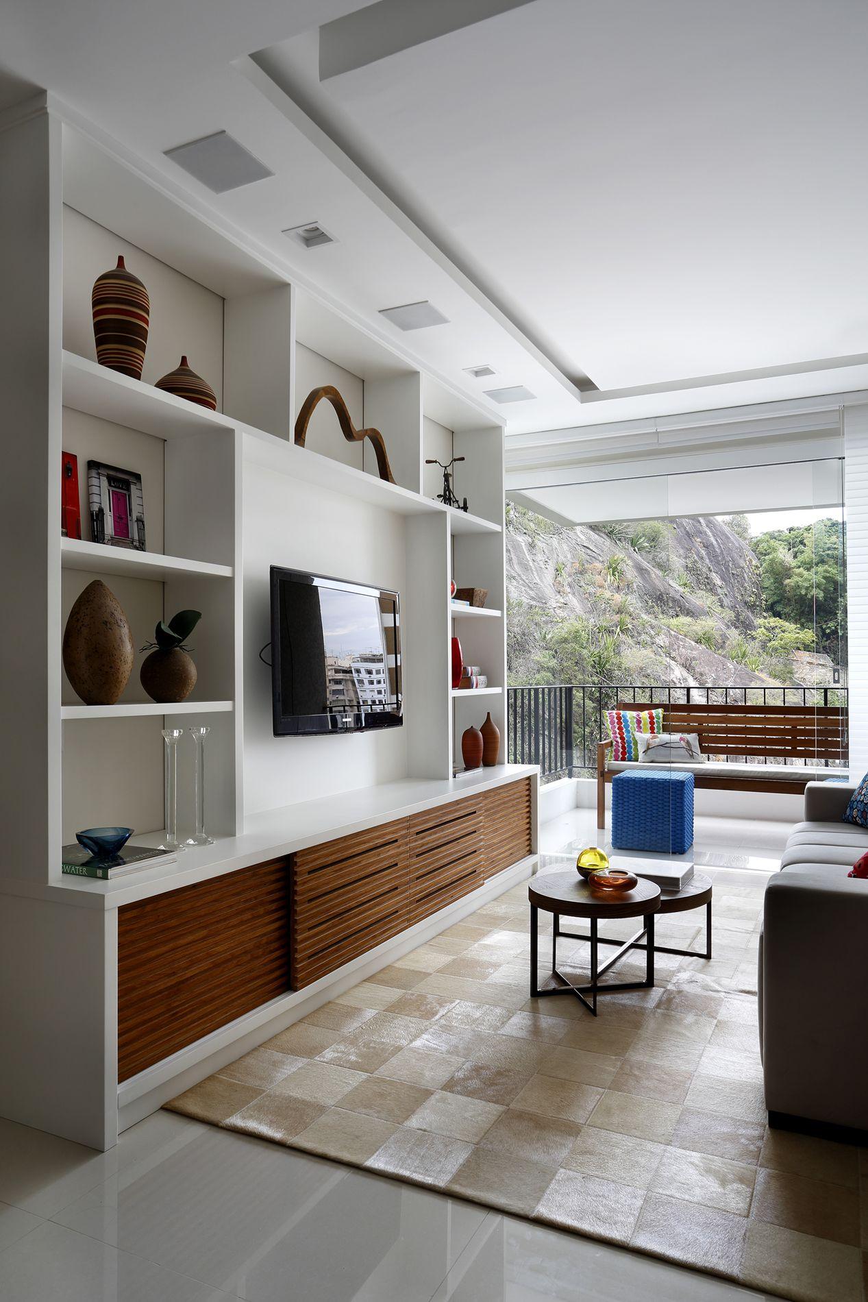 Projeto Arquitetura para Interiores de Apartamento em Laranjeiras Rj #1C365F 1267 1900