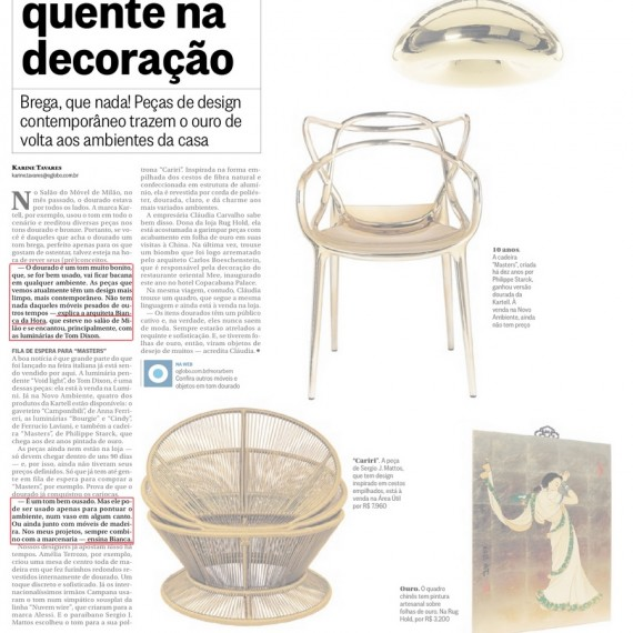 Morar Bem - 25/05/2014 - Da Hora Arquitetura na Mídia
