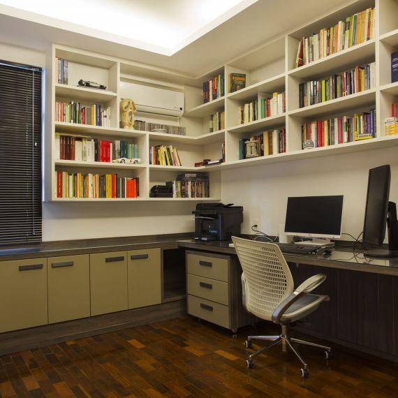 Projeto de Decoração de Escritório de Apartamento em Copacabana, Rio de Janeiro