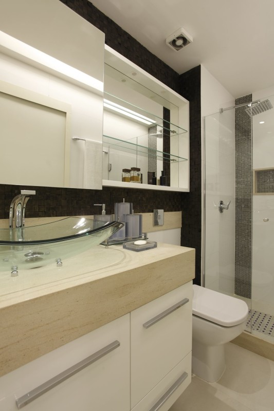 Projeto de Decoração de Interiores em Banheiros - Apartamento em Ipanema