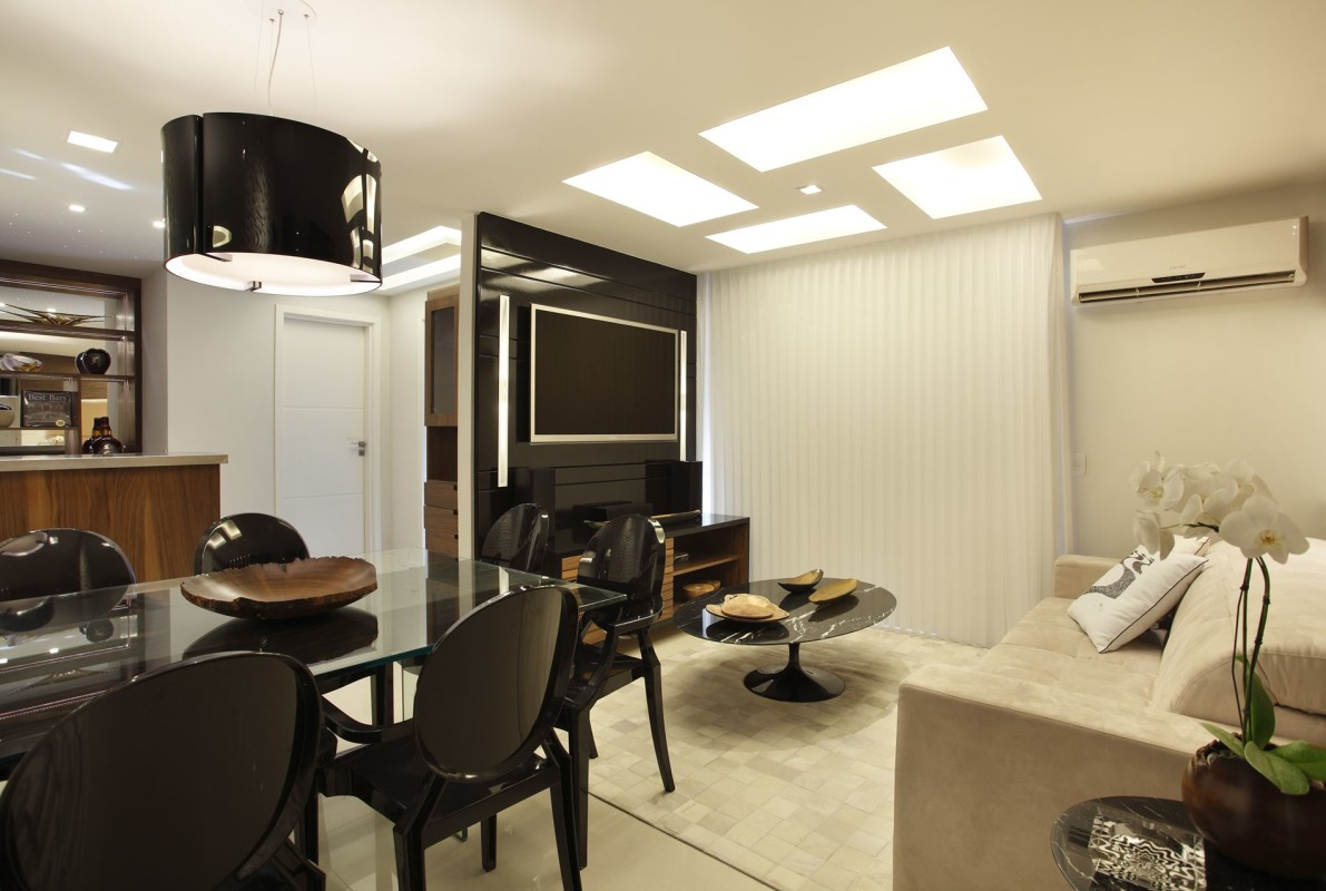 Projeto de Decoração de Interiores em Salas - Apartamento em Ipanema