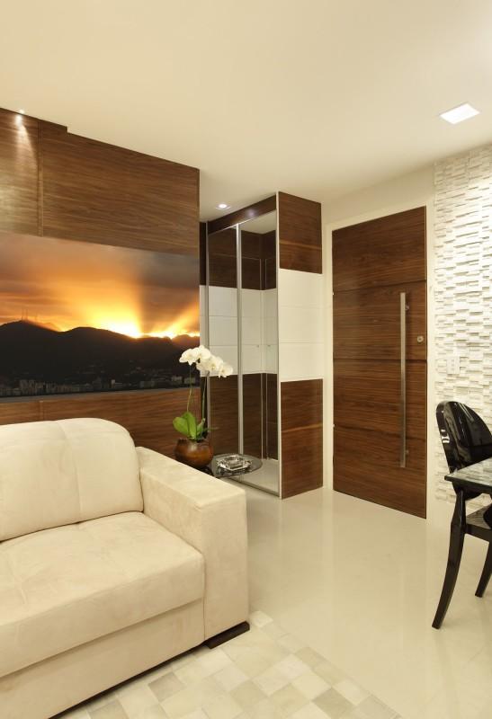 Projeto de Arquitetura de Interiores em Sala Pequena - Apartamento em Ipanema