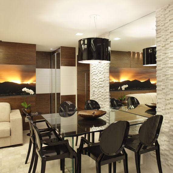 Projeto de Arquitetura de Interiores em Salas de Jantar - Apartamento em Ipanema