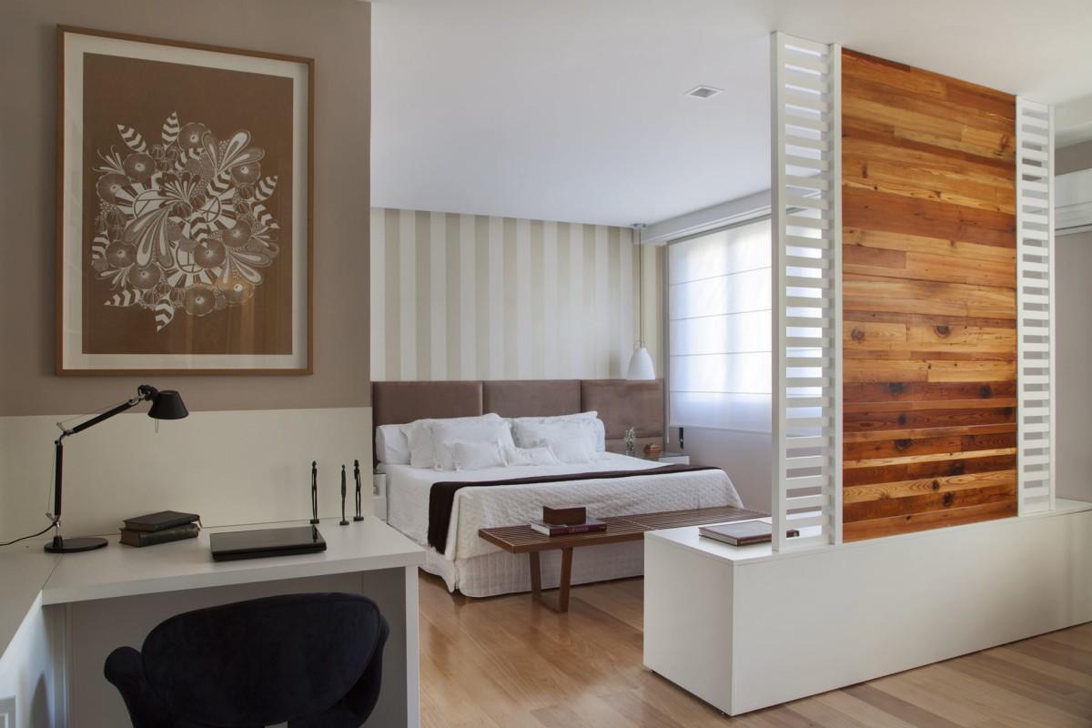 Projeto de Arquitetura de Interiores - para Quartos de Casal - Apartamento na Av. Rui Barbosa, Flamengo, RJ