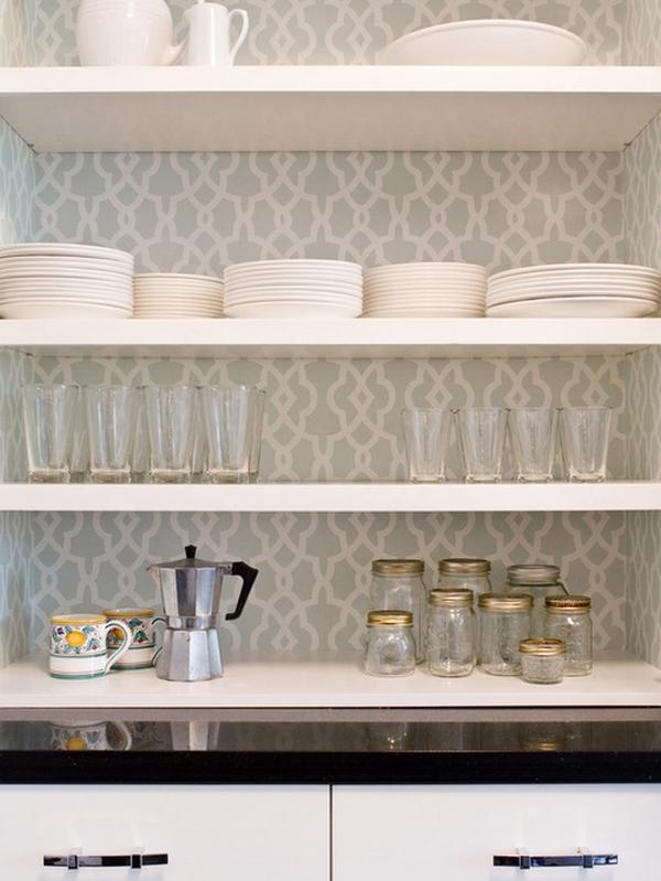 Papel de parede delicado para cozinha
